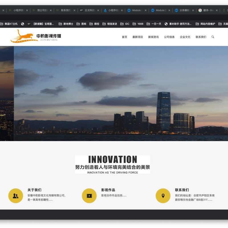 【网站案例】安徽中豹影视文化传媒有限公司官网